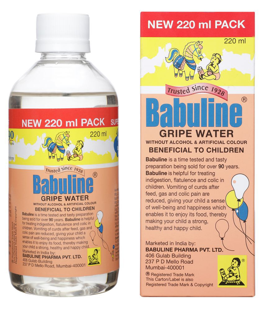 Babuline Gripe Water for Kids 220ml Pack of 4