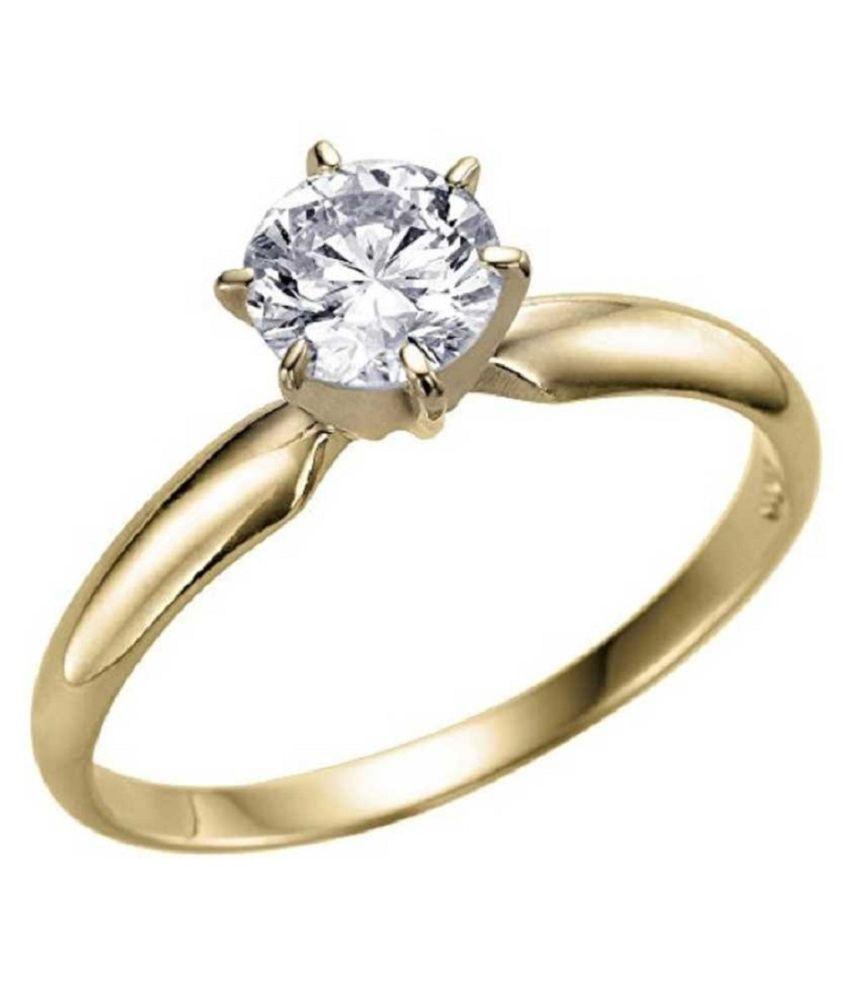 Natural ZIRCON Stone 7.25 Ratti Gemstone gold plated Ring Original Lab Certified By KUNDLI GEMS