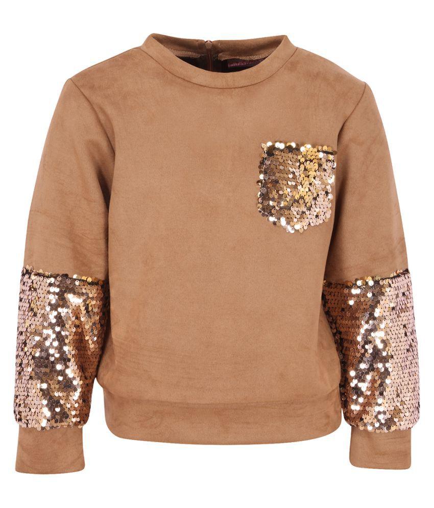Partywear Embellished full sleeves sweatshirts