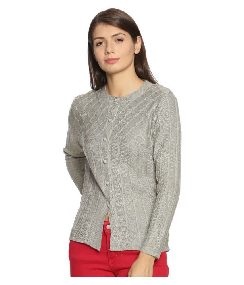 Clapton Acrylic Silver Buttoned Cardigans