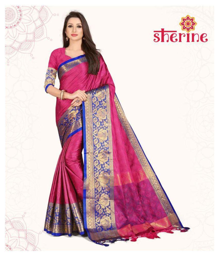 Sherine Pink Silk Saree