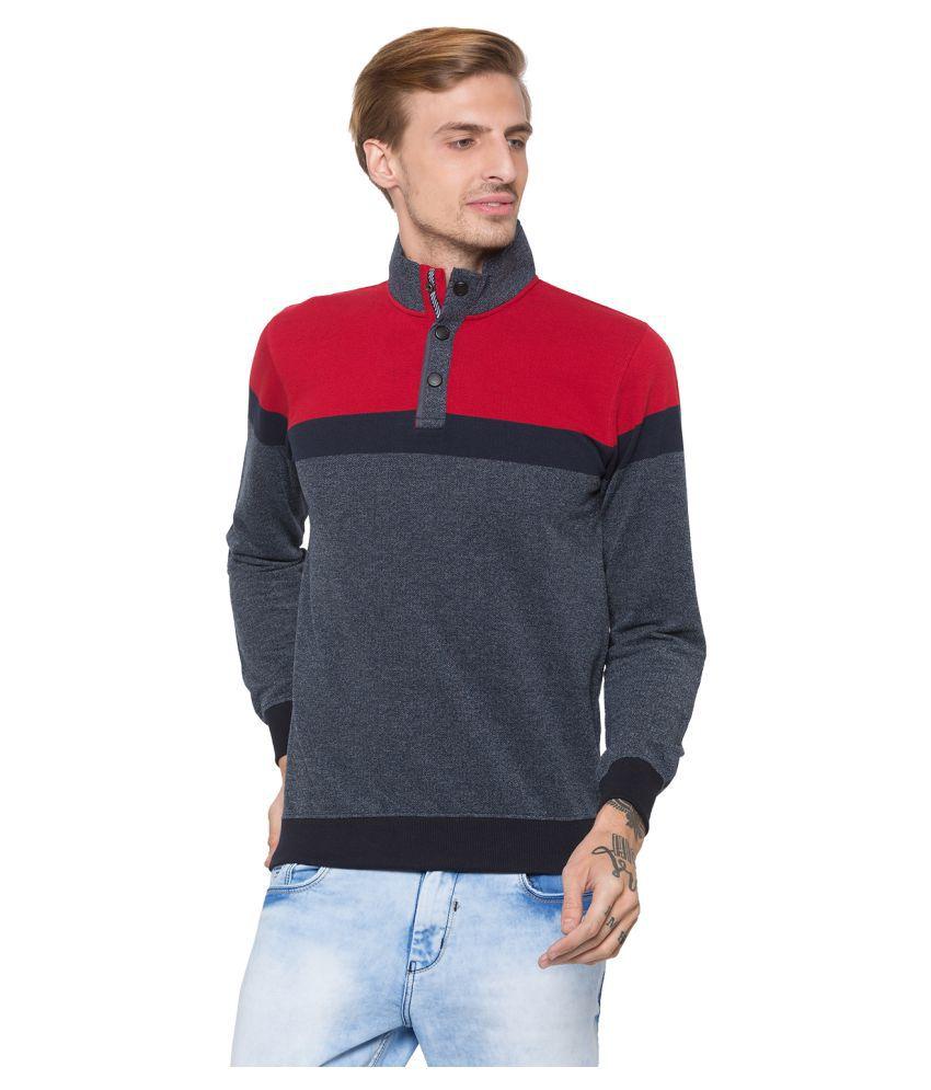 Globus Cotton Grey Non Hooded Sweatshirt