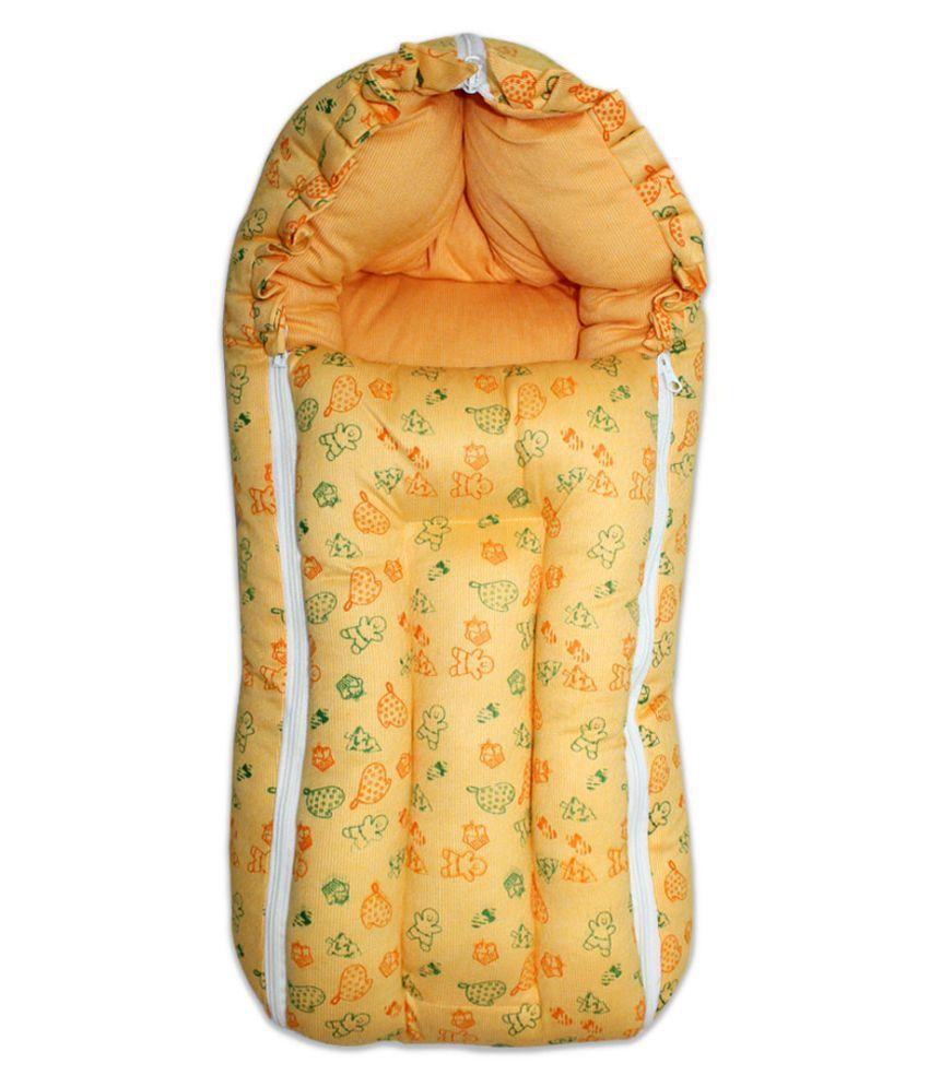 Little Kids Orange Cotton Sleeping Bags ( 100 cm × 80 cm)