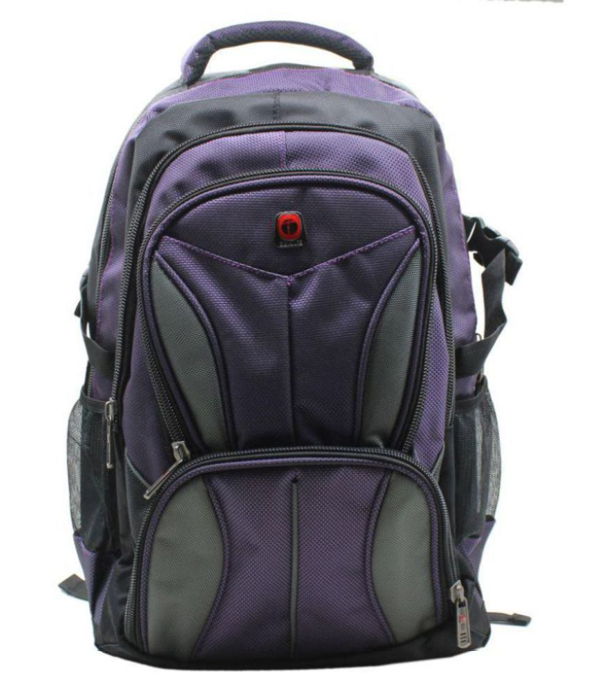 Impro Purple Fabric College Bag