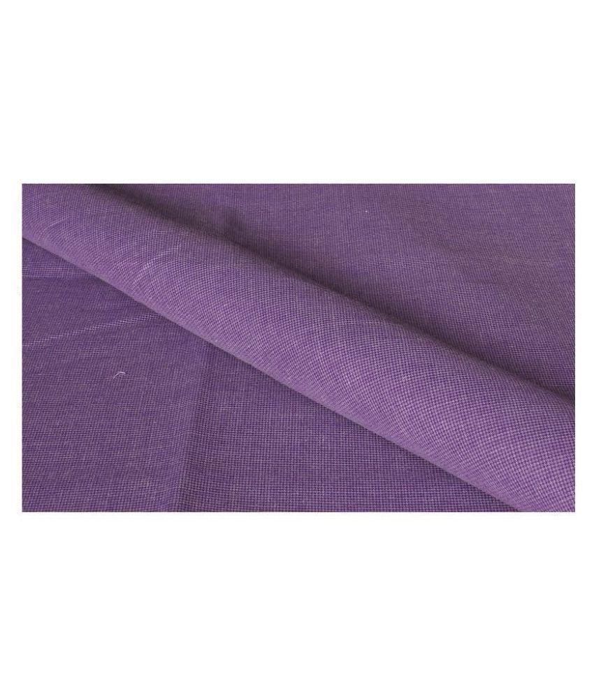 Makhanchor Purple 100 Percent Cotton Unstitched Shirt pc Single