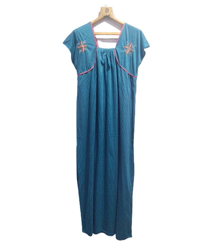 Avenew Fashions Hosiery Nighty & Night Gowns - Blue