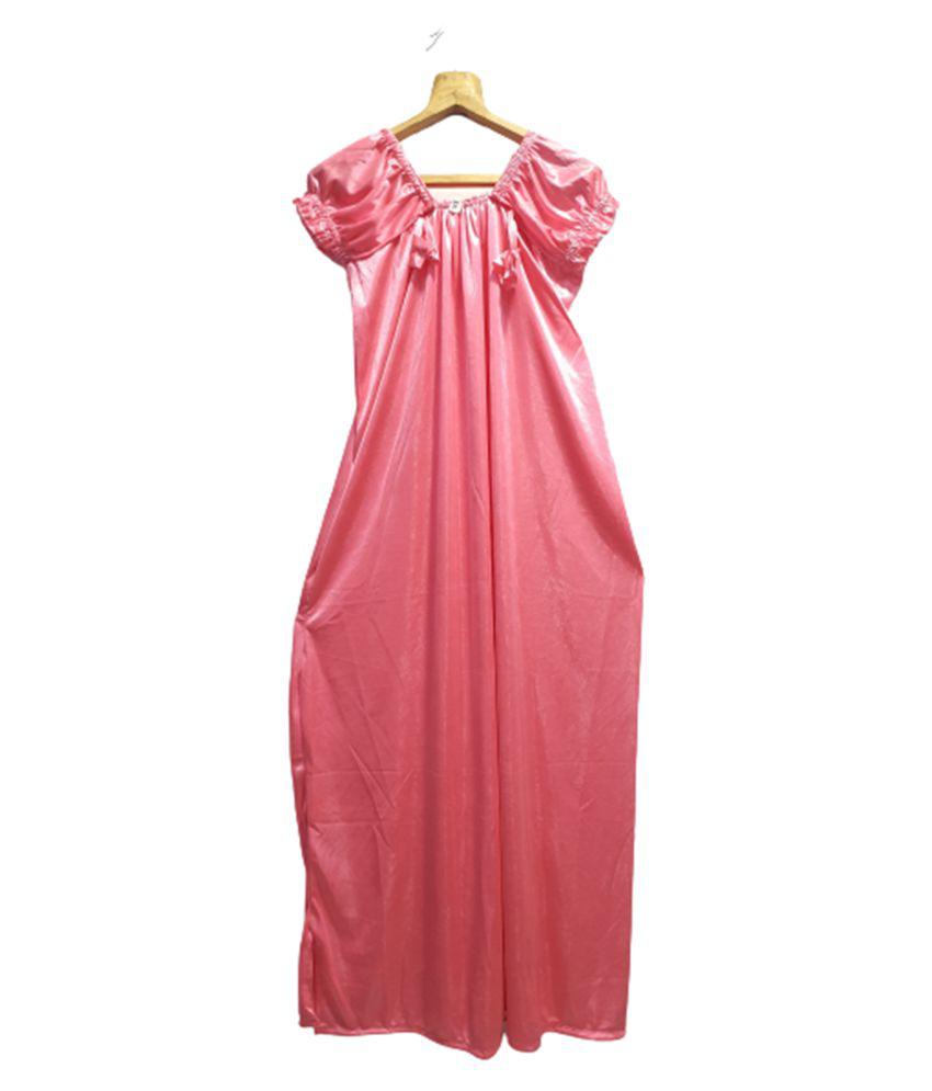 Avenew Fashions Satin Nighty & Night Gowns - Pink