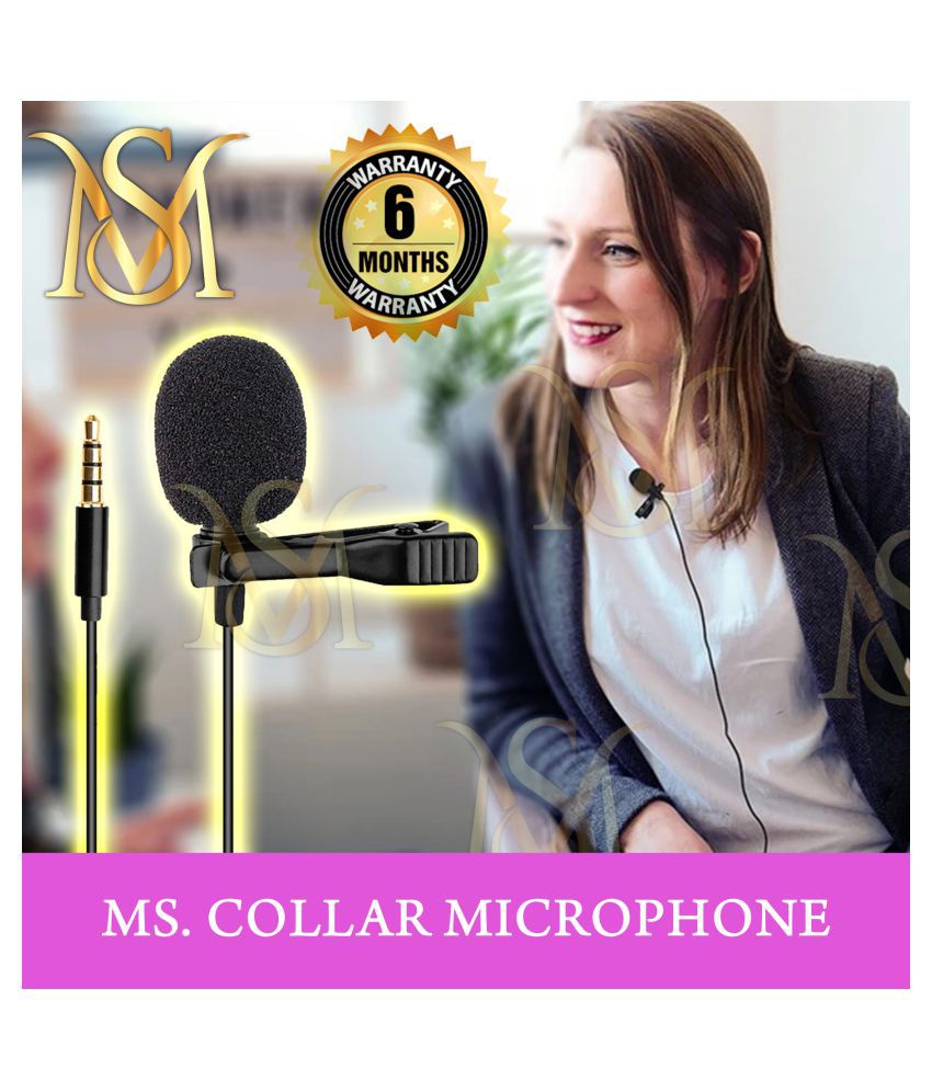MS. ONLINE SHOPPING Collar Mic Lapel Microphone