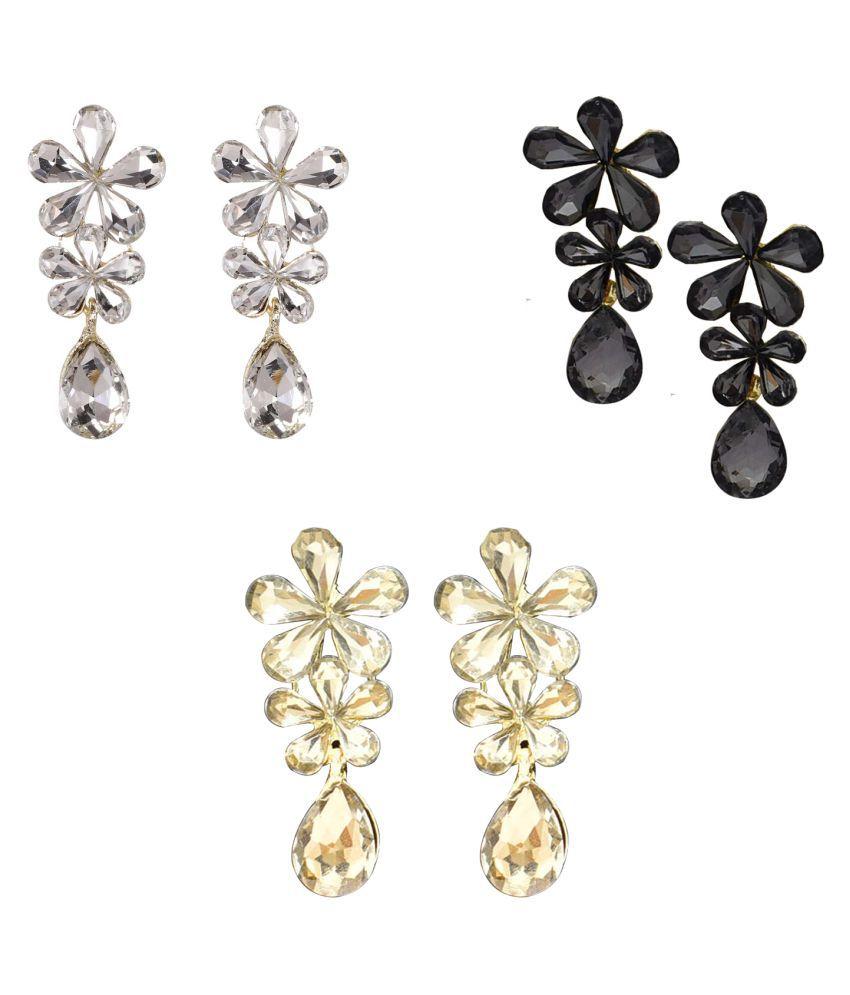 Jaishree Jewels Flower Fancy Party Wear Tops Stud Earrings for Women and Girls