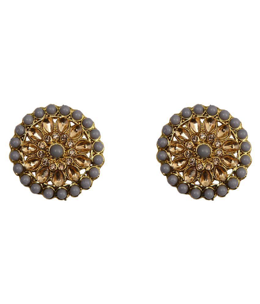 RABIA TAJ PEARL Designer Stud Earrings