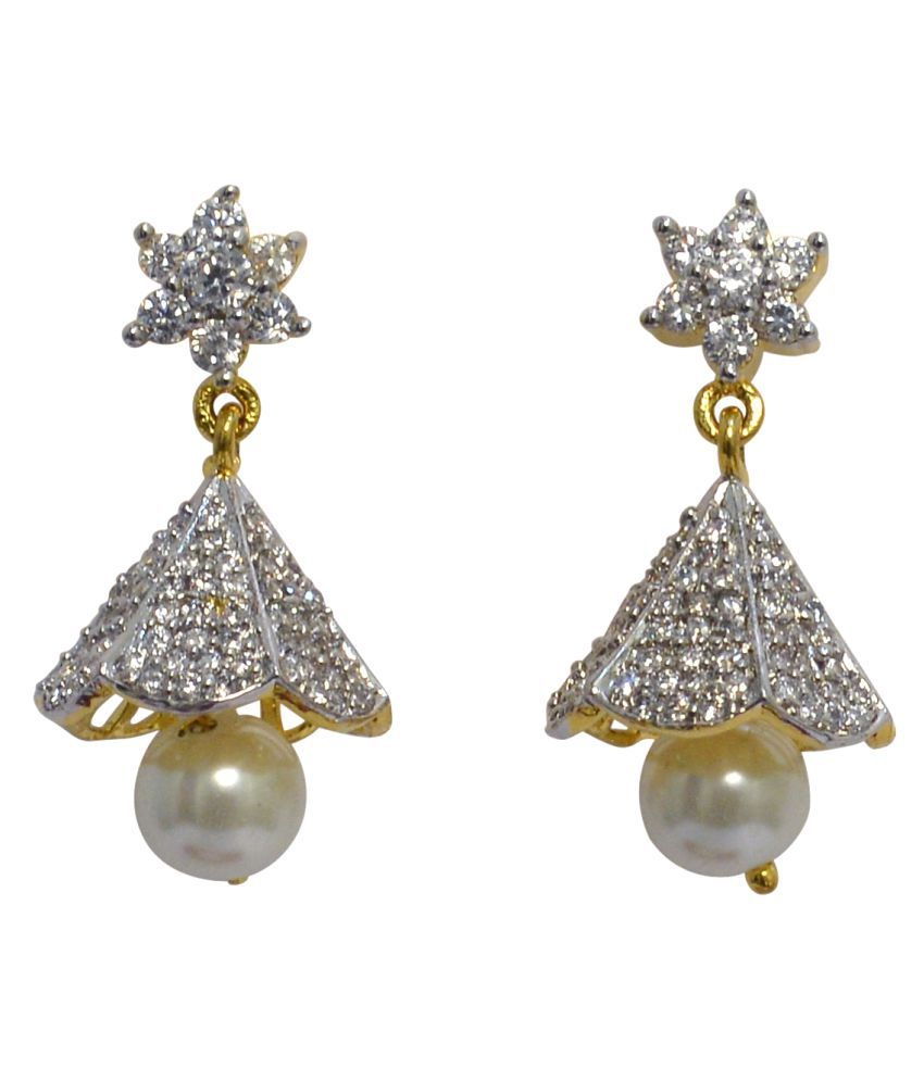 SOLLIGHT Gold Plated AD Studded Drop Earring