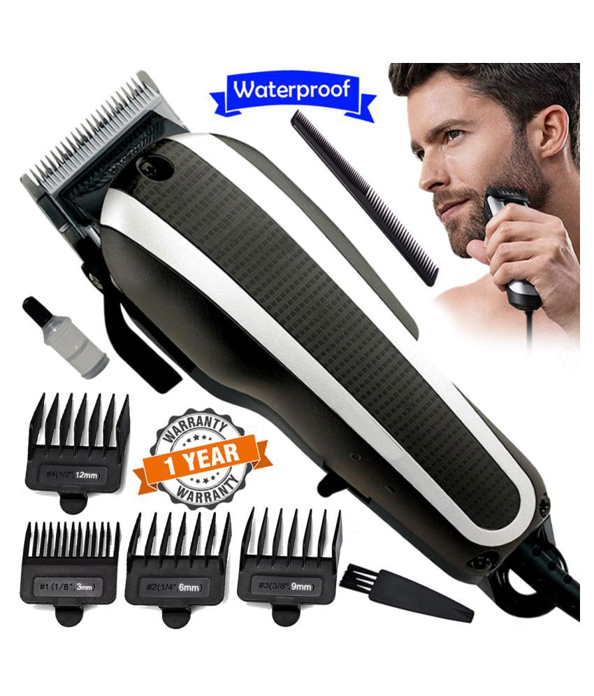 TL Professional Corded High Power Washable Beard Mustache Trimmer 9W Hair Clippe Multi Casual Fashion Comb