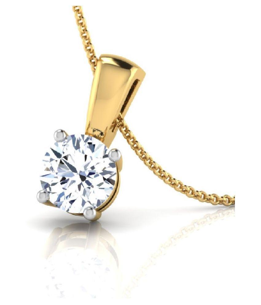 5.5 Ratti Zircon Pendant in  Gold Plated by  KUNDLI GEMS