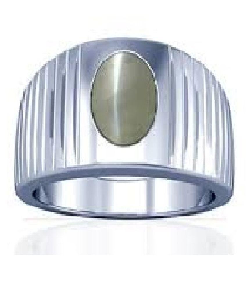 6.5 carat Natural Silver Cat's Eye Ring by KUNDLI GEMS\n