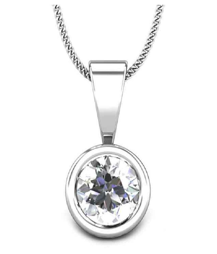 Natural Silver 5.5 Ratti Zircon Pendant by KUNDLI GEMS\n