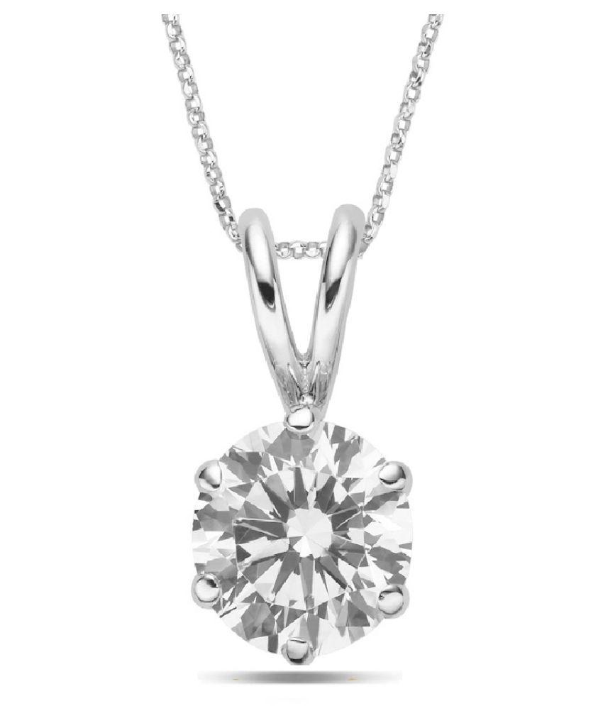 Silver 5.5 Ratti Zircon Pendant for unisex by KUNDLI GEMS\n