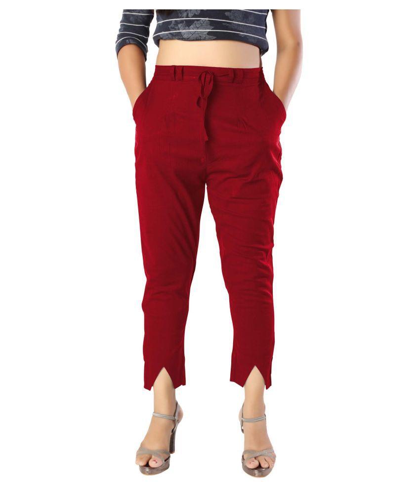 elenia Cotton Jeans - Maroon