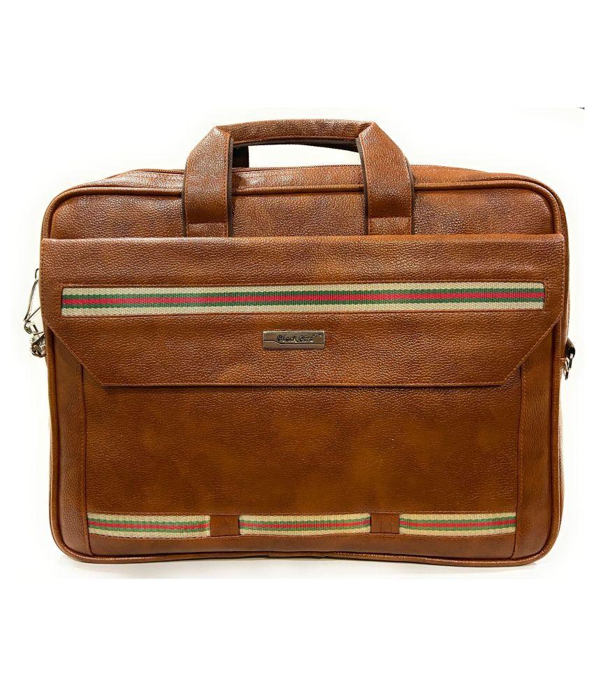 Blackbird Tan Synthetic Office Messenger Bag