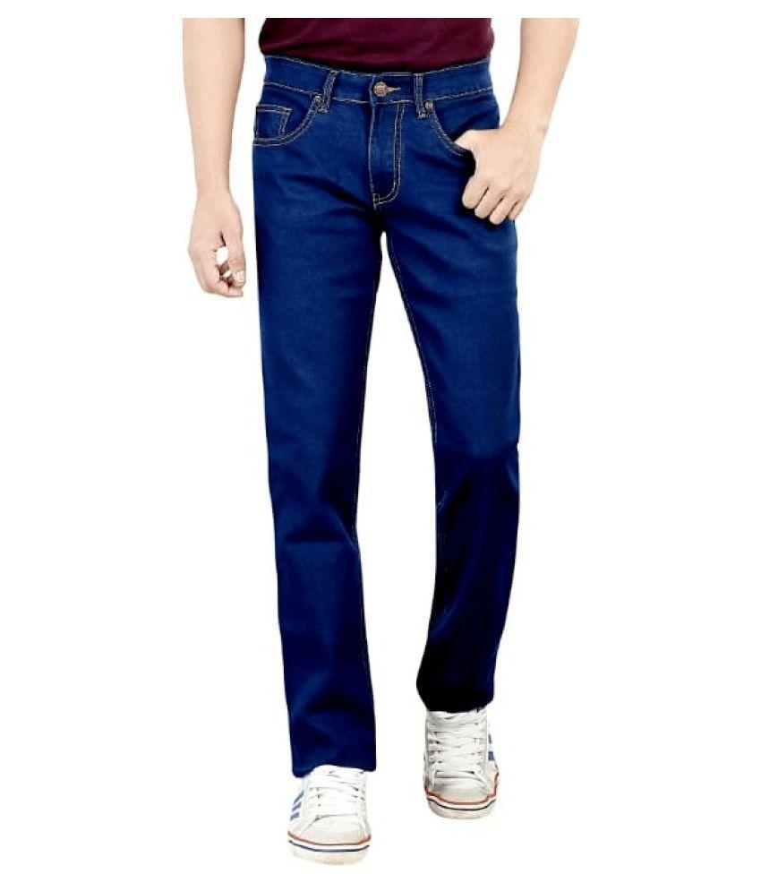 Tera Lee Dark Blue Regular Fit Jeans