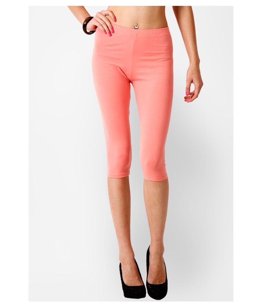 Femmora Cotton Lycra Tights - Orange