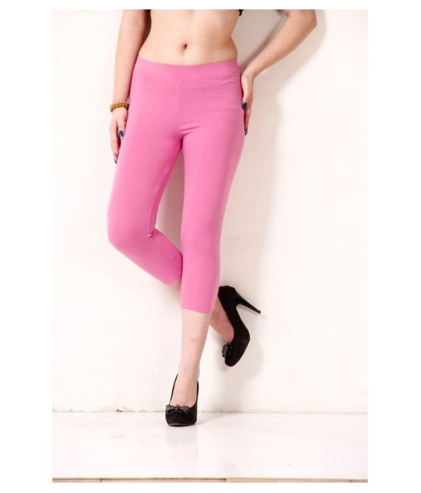Femmora Cotton Lycra Tights - Pink