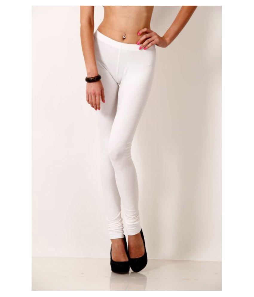 Femmora Cotton Lycra Tights - White