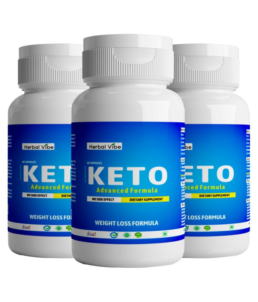 Herbal Vibe Weight Loss Capsule Fat Burner Keto 180 no.s Unflavoured Pack of 3