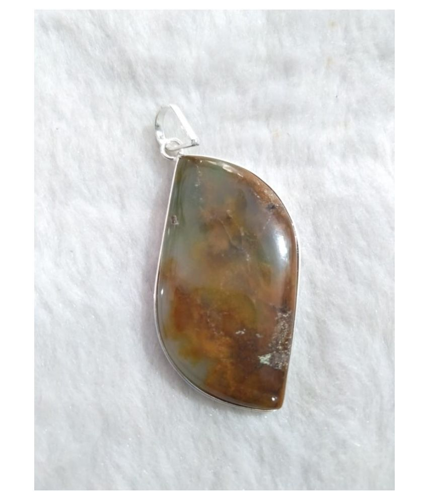 Green & Red Chrysoprase Natural Agate Stone Pendant