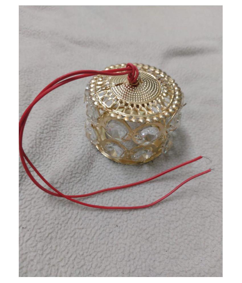 KSUC Metal Temple Decoration Pendant Gold - Pack of 1
