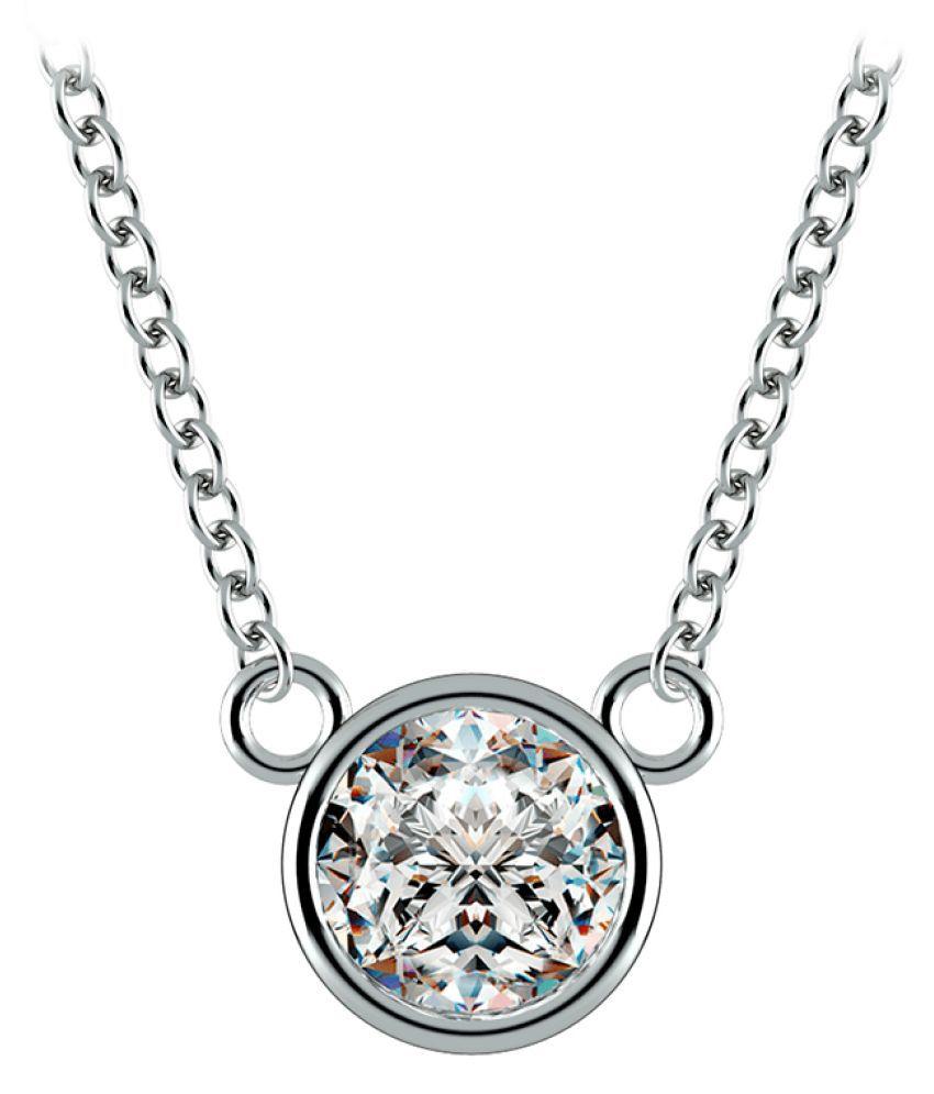 Silver 8 Ratti Zircon  Pendant by KUNDLI GEMS
