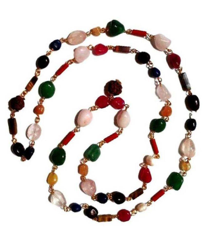 Kundli gems Original &b Lab certified stone Navgrah Beads Mala For Astrological Purpose