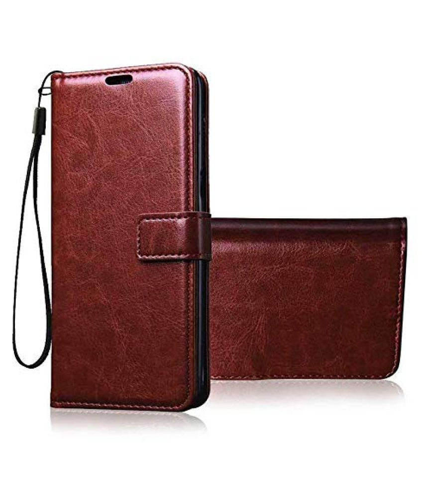 Apple iPhone 12 Mini Flip Cover by ClickAway   Brown Wallet Style Flip Cover