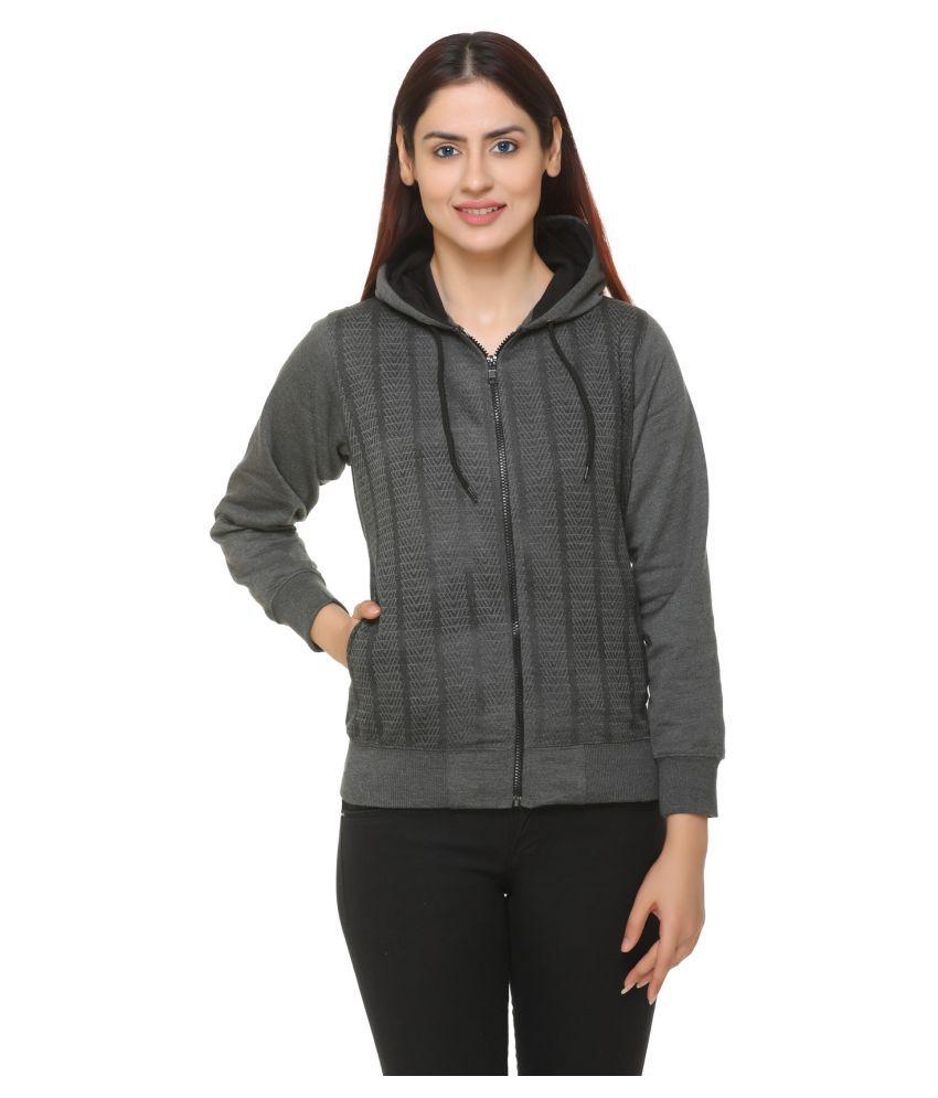 S.B.MOD Fleece Grey Hooded Sweatshirt