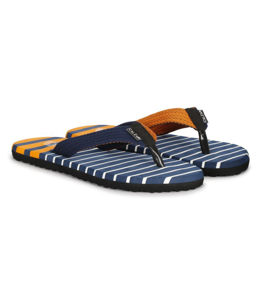 CALZARI Orange Thong Flip Flop
