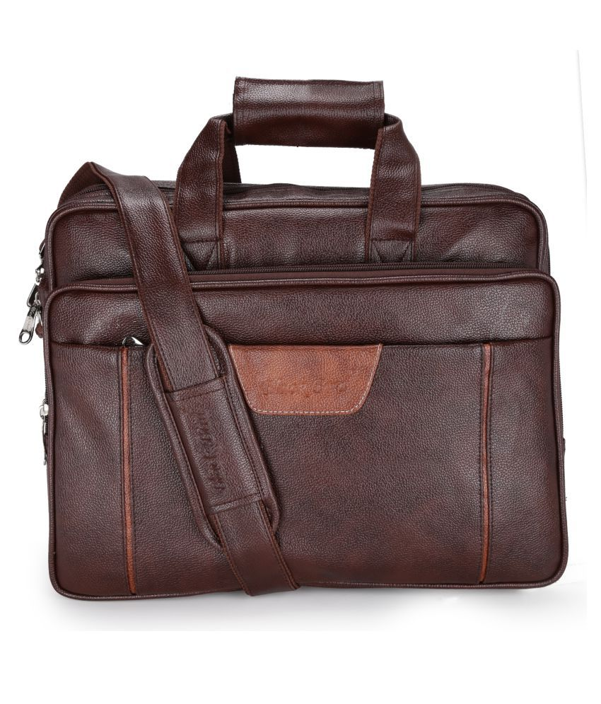 Blackbird Brown P.U. Office Messenger Bag