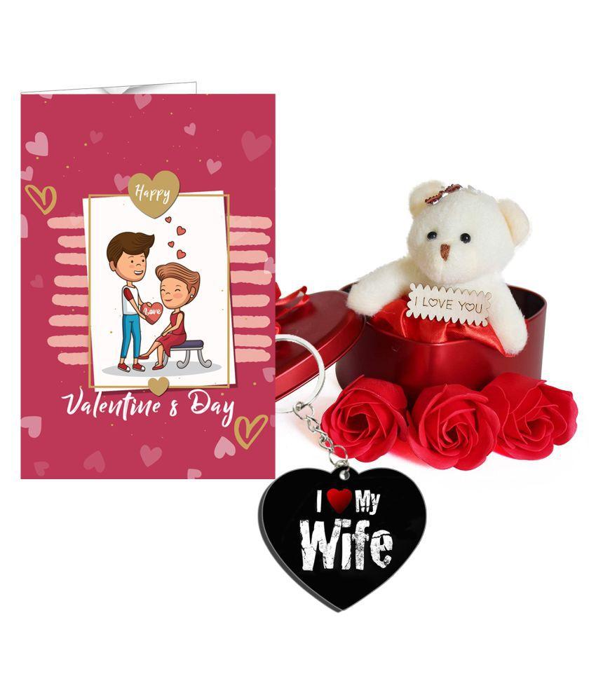 Festa Wood Valentine Hamper White - Pack of 3