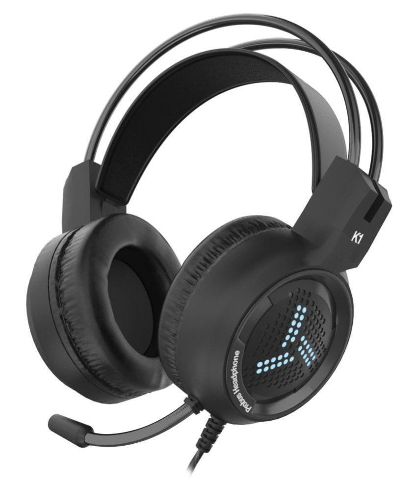 Probus K1 Over Ear Wired With Mic Headphones/Earphones