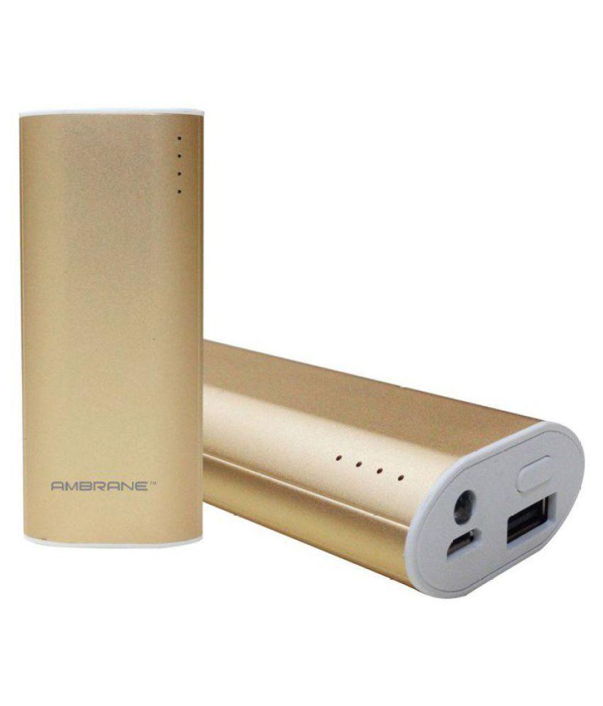 Ambrane 5200 -mAh Li-ion Power Bank Gold