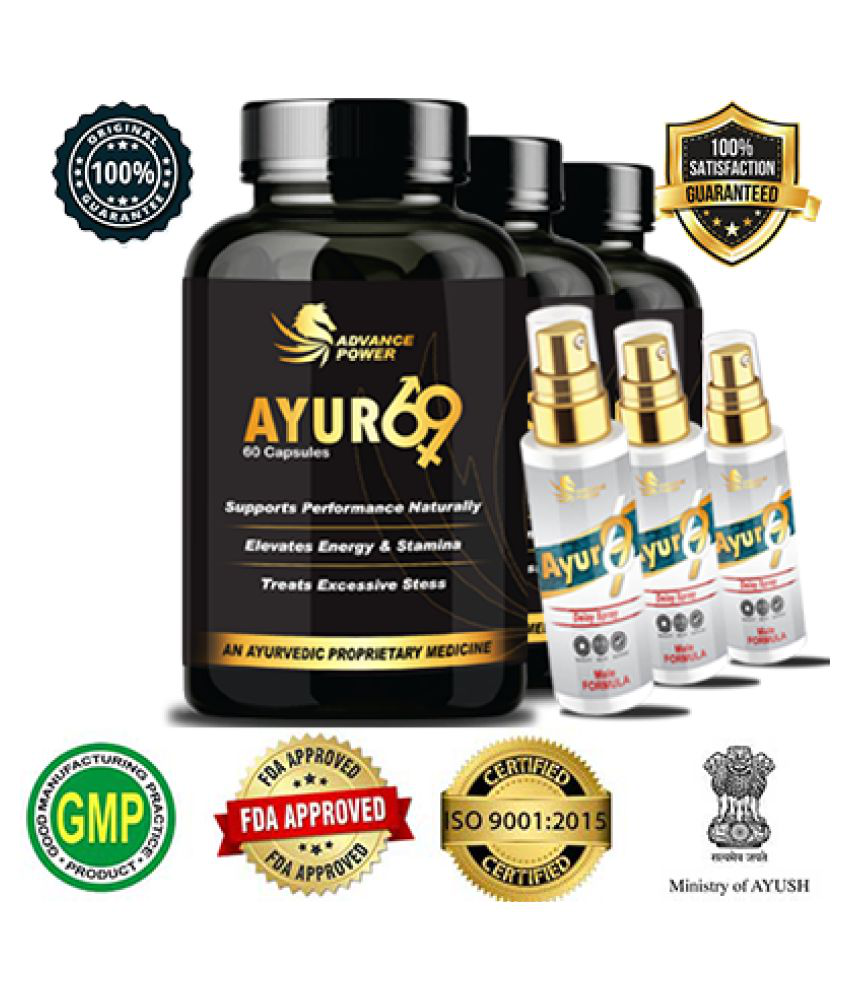 Ayur 69   3 Months Pack Full Course India Capsule 3 gm Pack of 3