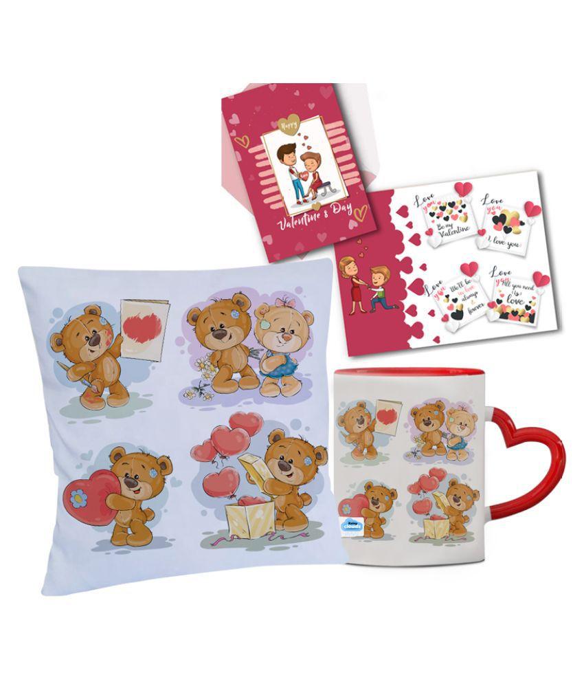 Festa Ceramic Valentine Hamper Red - Pack of 3