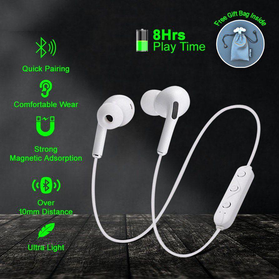 Hitage SBS Magnetic Bluetooth Headphone In Ear Wireless Earphones With Mic