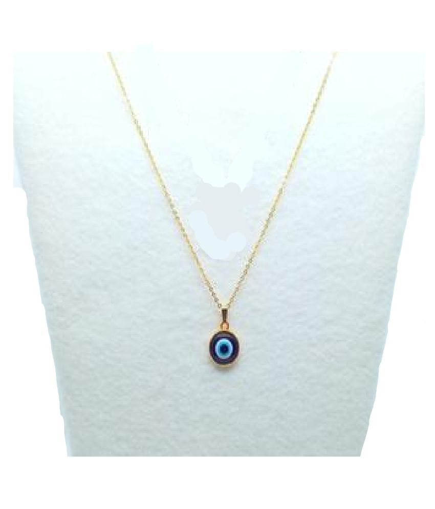Gold Plated  Evil Eye Pendant  by Kundli Gems \n