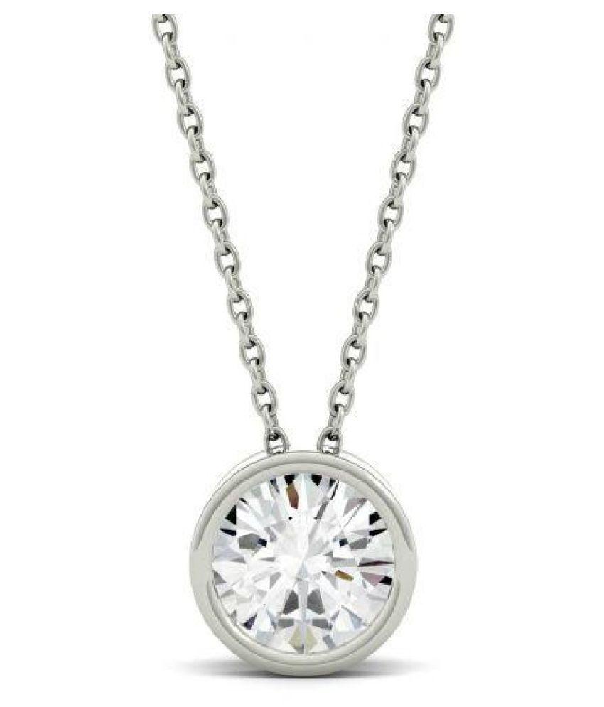 8.25 Ratti Zircon  pure Silver Pendant for Unisex by  Ratan Bazaar\n