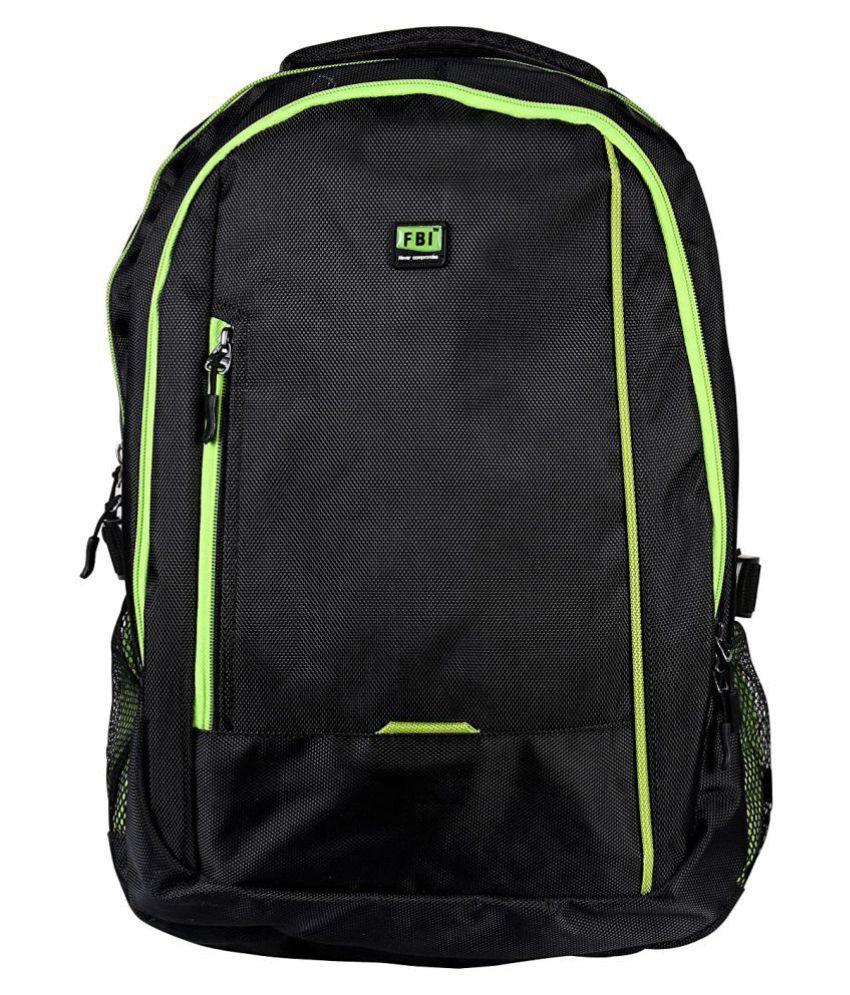 Fabco Black Polyester College Bag