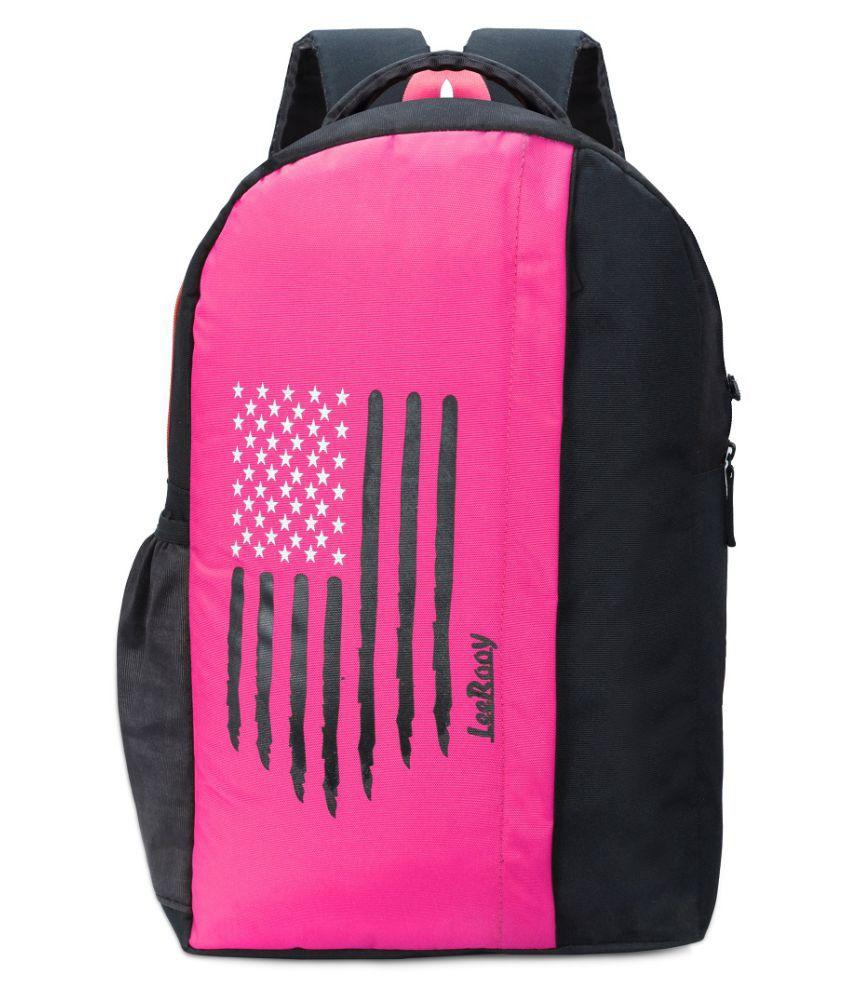 LeeRooy Pink Canvas College Bag