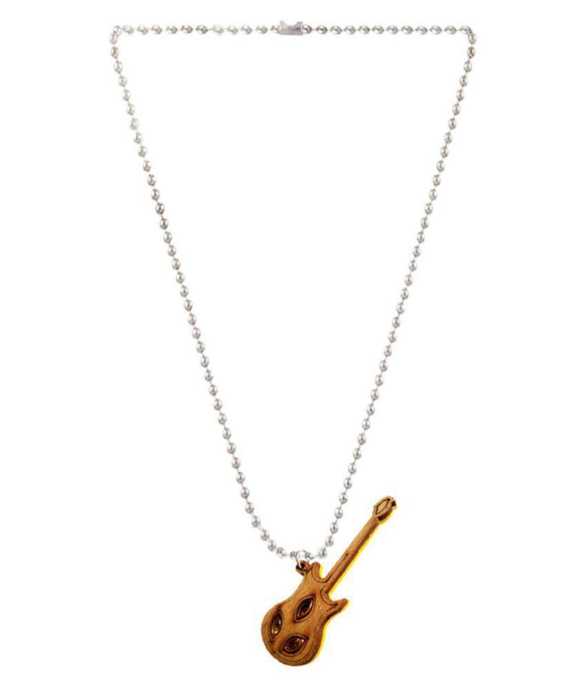 Sashrut Jewels Brown wood guitar Pendent