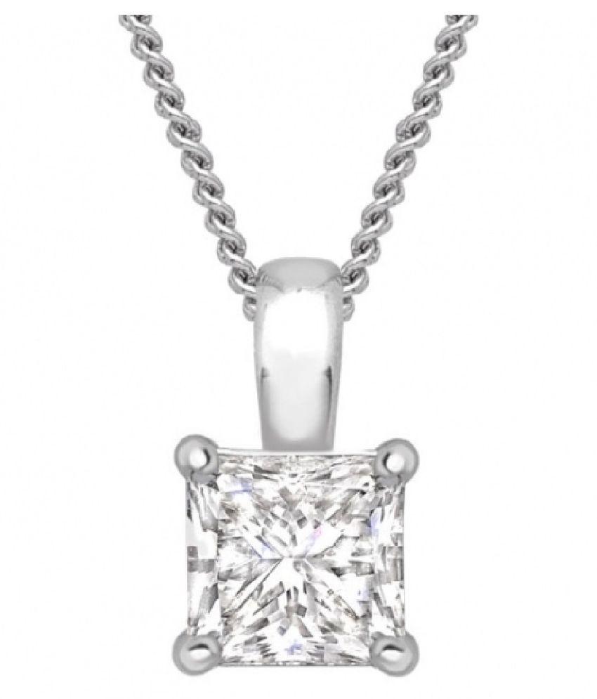 Silver  5.5 Ratti Zircon  Pendant by Ratan Bazaar\n