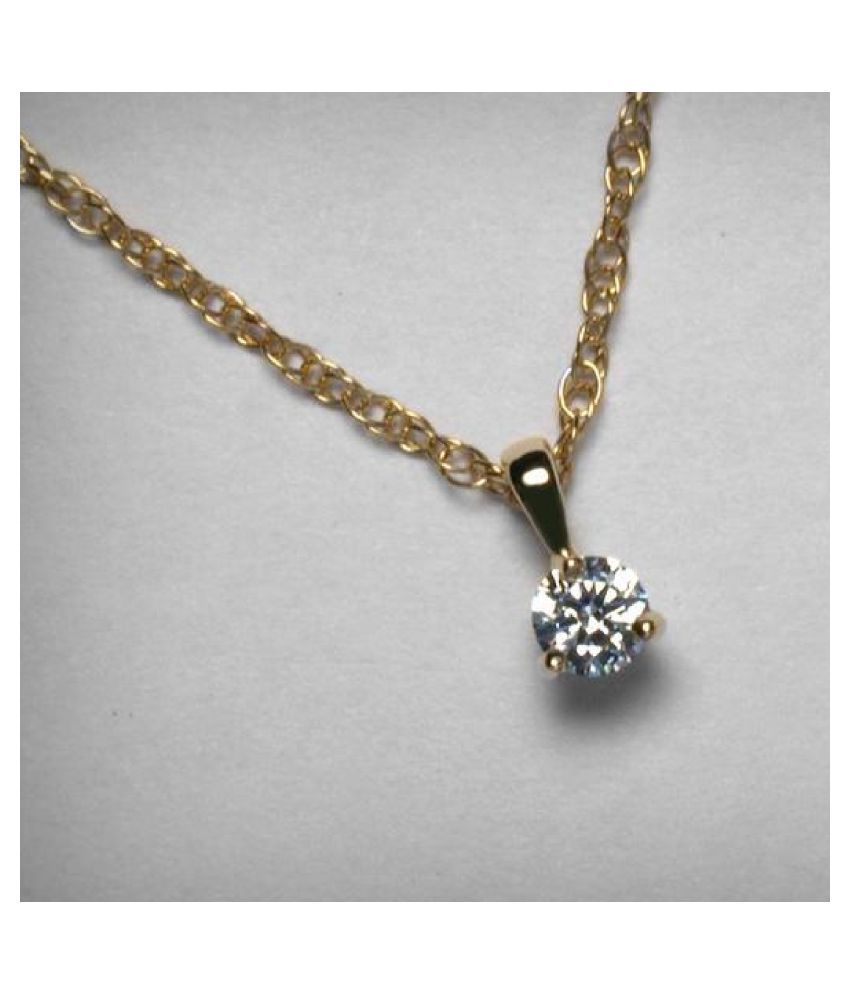 pure 8 Ratti Zircon Gold Plated Pendant for unisex by Ratan Bazaar\n