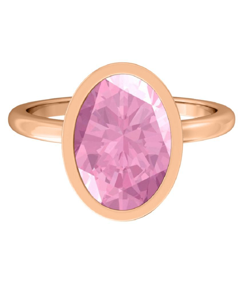 6.25 carat pure PINK SAPPHIRE GOLD PLATED RING(ANGUTHI) for women by RATAN BAZAAR \n