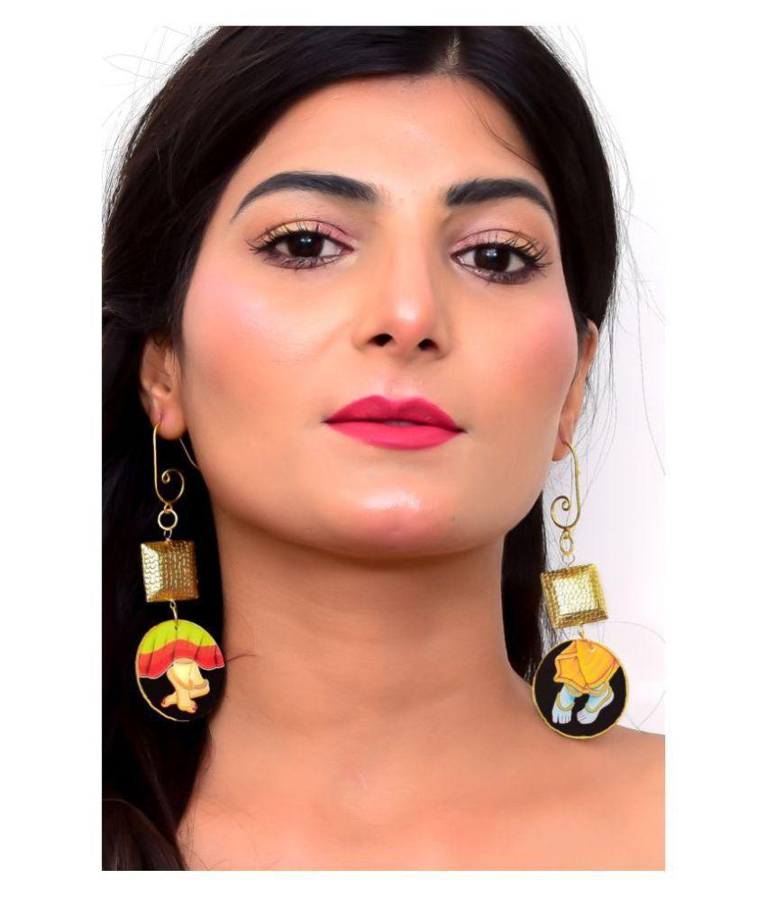 Divine Radha Krishna Dangling Earrings